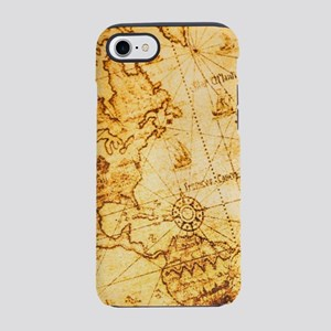 steampunk vintage world map iPhone 8/7 Tough Case