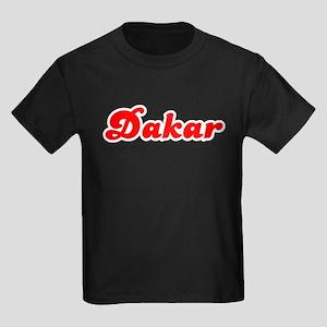 Retro Dakar (Red) Kids Dark T-Shirt