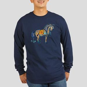 Tang Horse Two Long Sleeve Dark T-Shirt