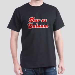 Retro Dar es Salaam (Red) Dark T-Shirt