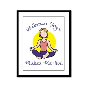 Bikram Yoga Makes Me Hot Framed Panel Print