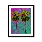 PalmArt Framed Panel Print