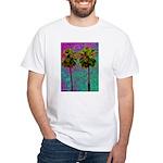 PalmArt White T-Shirt