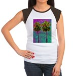 PalmArt Women's Cap Sleeve T-Shirt