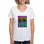 PalmArt Women's V-Neck T-Shirt