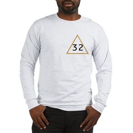 32 in triangle Long Sleeve T-Shirt