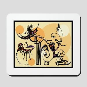 Orange Doodle Mousepad