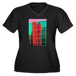 Reflections Women's Plus Size V-Neck Dark T-Shirt