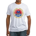 American Veterans for Vets (Front) Fitted T-Shirt