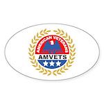 American Veterans for Vets Oval Sticker