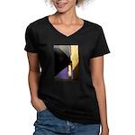 Form v. Color Women's V-Neck Dark T-Shirt