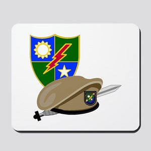 Army Ranger Beret Dagger Mousepad