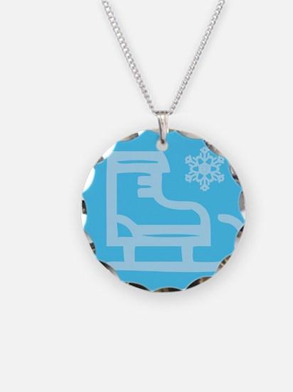 Hockey Skate - Snowflake Necklace