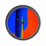 Support Pole Wall Clock
