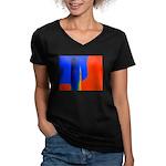 Support Pole Women's V-Neck Dark T-Shirt