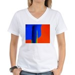 Support Pole Women's V-Neck T-Shirt