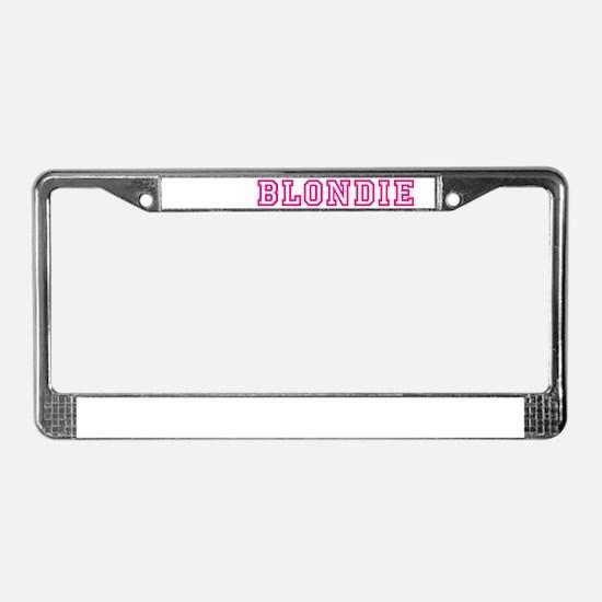 Blondie License Plate Frame