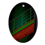 Bridge to Nowhere Oval Ornament