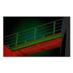 Bridge to Nowhere Rectangle Sticker 50 pk)