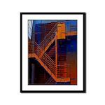 Switchback Mountain Framed Panel Print