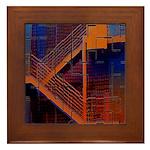 Switchback Mountain Framed Tile
