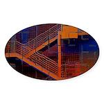 Switchback Mountain Oval Sticker (50 pk)