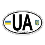 Ukraine Intl Oval Oval Sticker (10 pk)