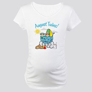 AUGUST TWINS! Maternity T-Shirt