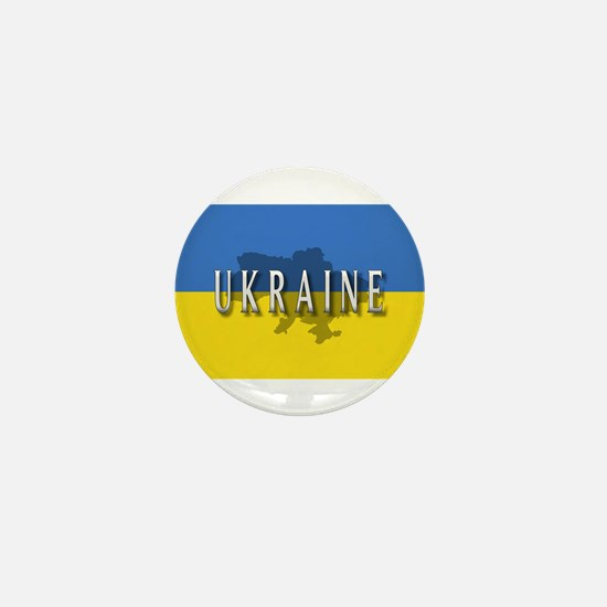 Ukraine Flag Extra Mini Button
