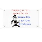 you are free 2 vote republica Banner