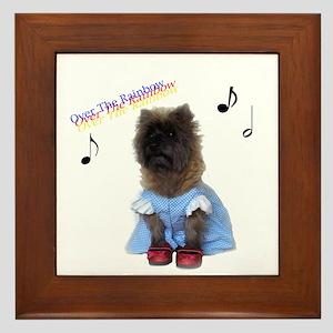Toto Dorothy Over the Rainbow Framed Tile