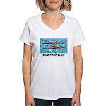 Women's V-Neck T-Shirt Prop Blurr