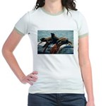 Seals over a Barrel Jr. Ringer T-Shirt