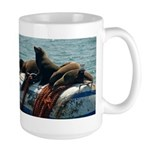 Seals over a Barrel Large Mug