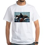 Seals over a Barrel White T-Shirt