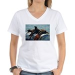 Seals over a Barrel Women's V-Neck T-Shirt