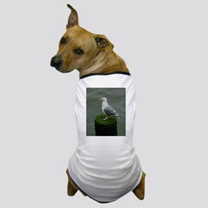 Bird on a Pole Dog T-Shirt