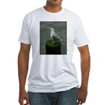 Bird on a Pole Fitted T-Shirt