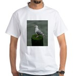 Bird on a Pole White T-Shirt