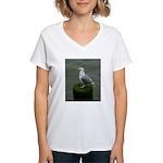Bird on a Pole Women's V-Neck T-Shirt