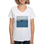 Flying Bird Women's V-Neck T-Shirt
