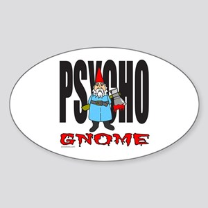 PSYCHO GNOME Oval Sticker