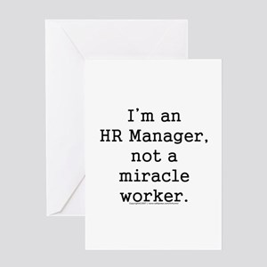 Miracle worker t Greeting Cards