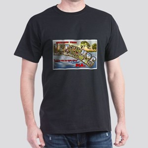 Leesburg Florida Greetings (Front) Dark T-Shirt