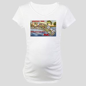 Leesburg Florida Greetings Maternity T-Shirt