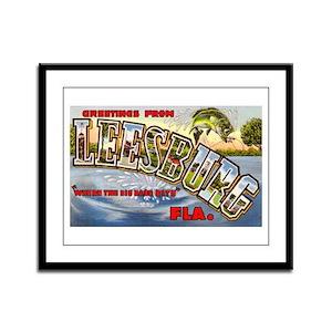 Leesburg Florida Greetings Framed Panel Print