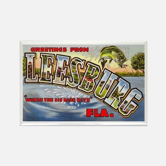 Leesburg Florida Greetings Rectangle Magnet