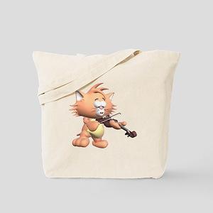 Cat & Fiddle Tote Bag