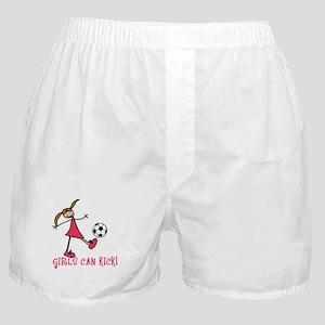 Girls Soccer Girls Can Kick Boxer Shorts