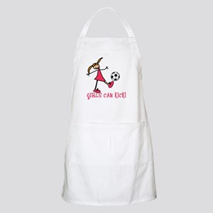 Girls Soccer Girls Can Kick BBQ Apron